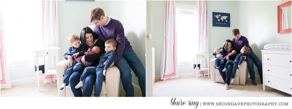 The experience of both a lifestyle session + posed portraits of the sweet new baby in the client